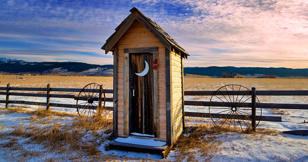 Winter Outhouse by Charles Knowles via Flickr, CC 2.0