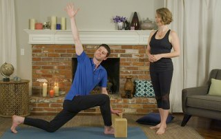 Long lunge with a twist