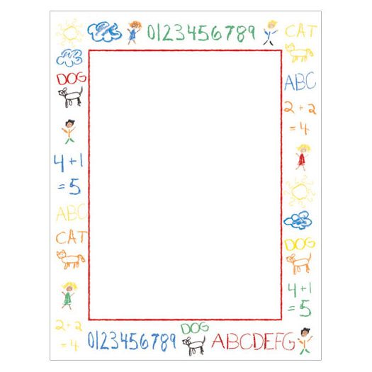 home school classroom kid s crayon doodle border paper