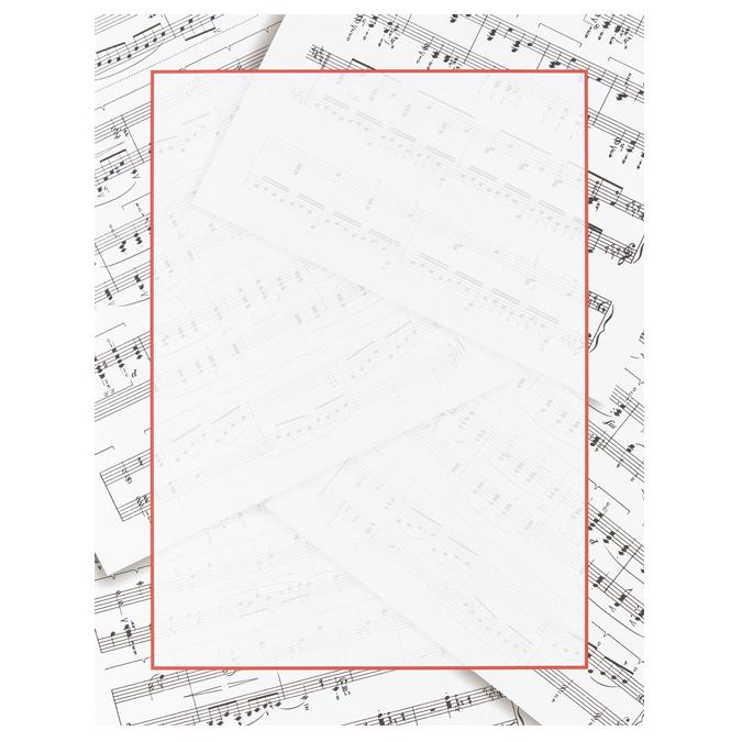 home school amp classroom sheet music border paper