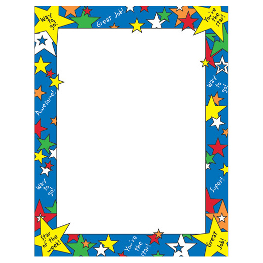home school amp classroom star of the week border paper