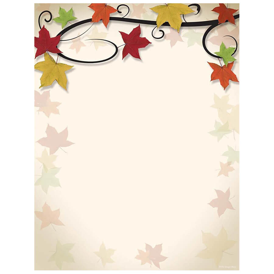 Fall Leaves Vine Autumn And Thanksgiving Printer Paper