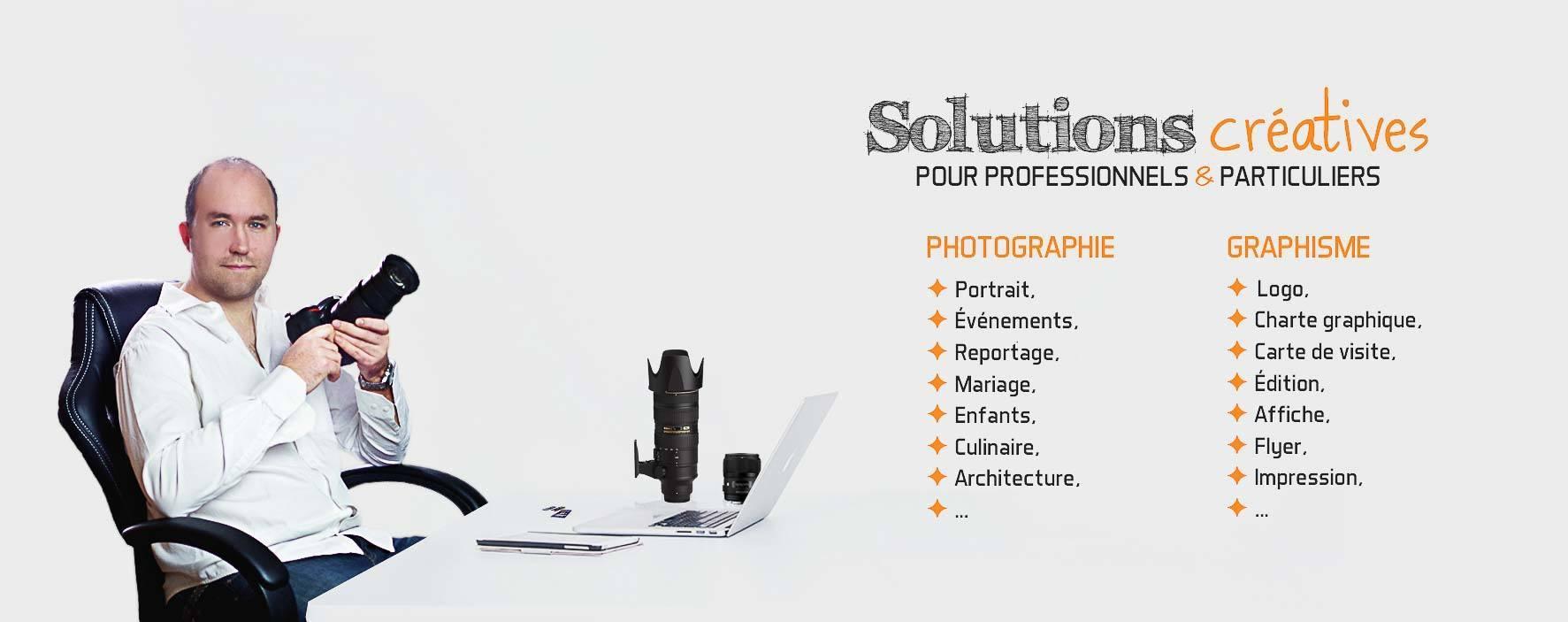 slider presentation photographe avec les prestations