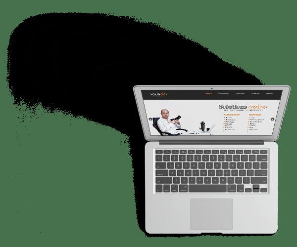 ordinateur avec site yourpics