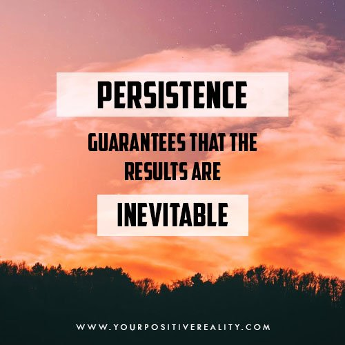 persistence guarantees that the results are inevitable   10 Powerful Quotes on Persistence