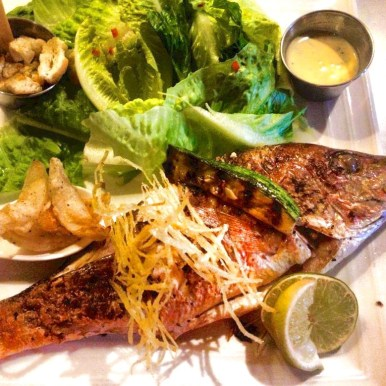 Fried whole Red Snapper