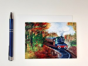 Steam Train Greetings Card