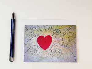 Love Spirals A6 Greetings Card