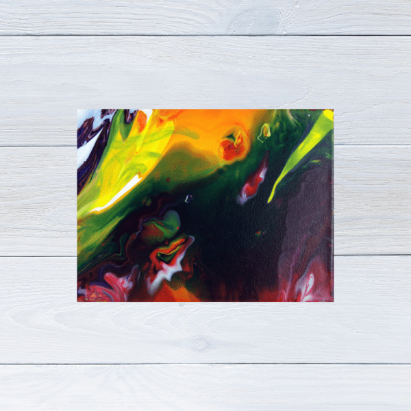 Koi in Pond Painting - Original Abstract Art - By Yours Faithfully Hannah Kirk