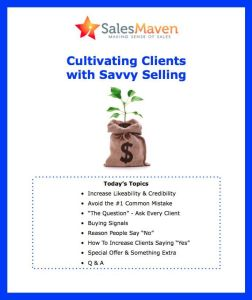 Client Retention, Client attraction, Sales Training