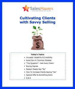 Client Retention, Client attraction, Sales Training