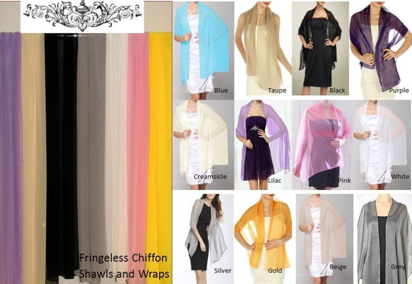 chiffon silk shawls and wraps