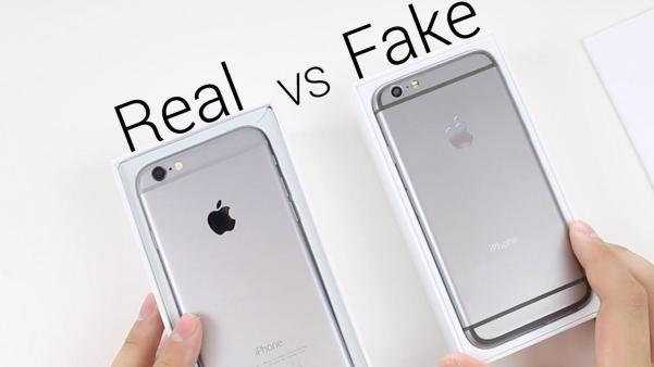 real vs fake apple iphone