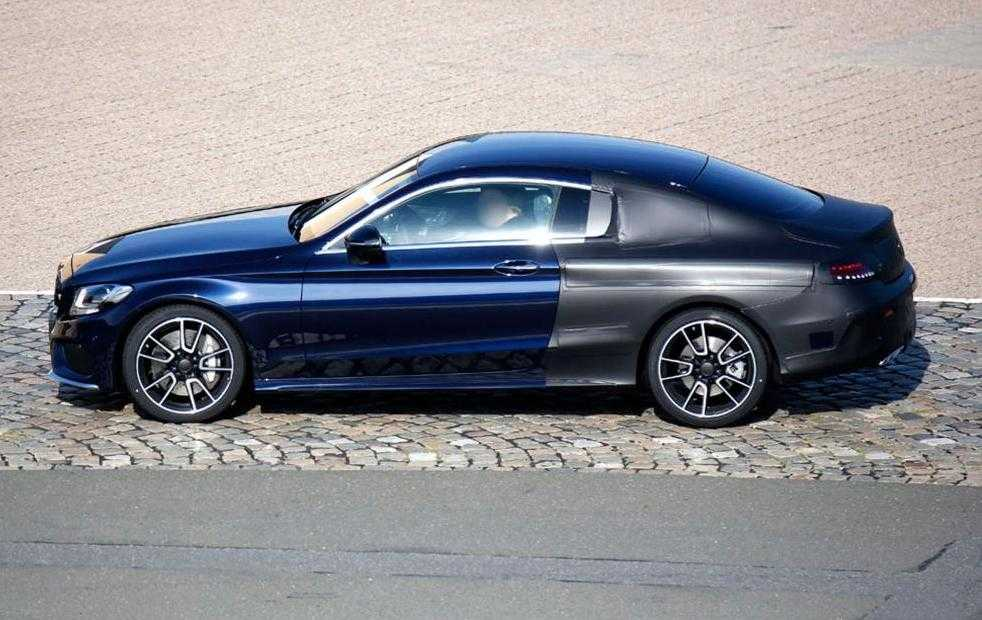 Spy Pics of 2016 Mercedes C-Class Coupe Reveal A New Sleek Profile