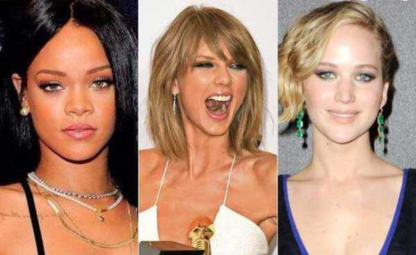 Jennifer Lawrence, Rihanna and Taylor Swift