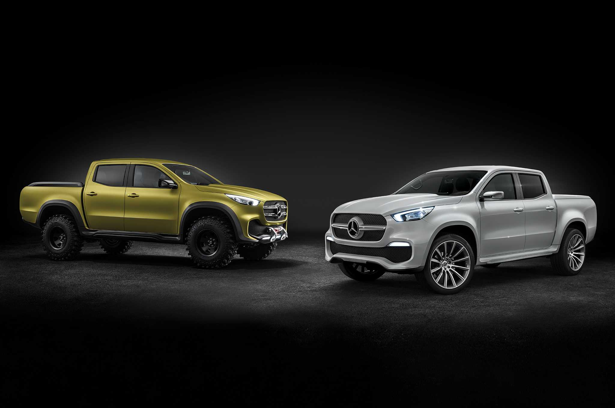 Mercedes Benz X-Class Pickup Truck Models Unveiled at Sweden
