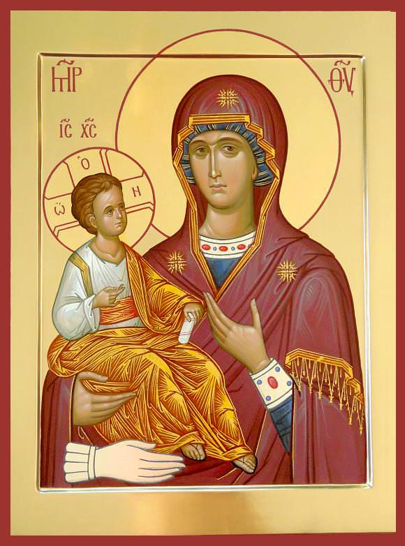 Tanrı'nın en kutsal annesinin simgesi