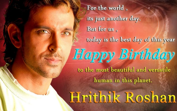 Hritik Roshan Birthday images for WhatsApp