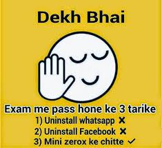 exam status for whatsapp