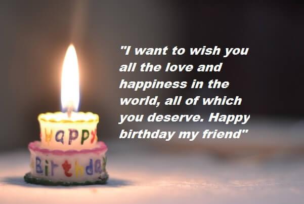 Happy birthday status for friend