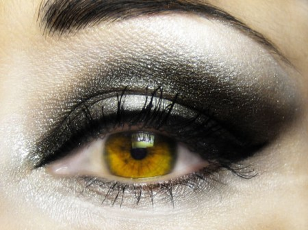 beautiful eye with kohl and mascara