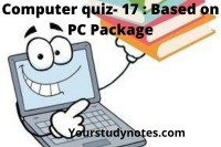 Computer quiz-17 based on pc package