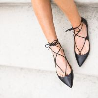 Trending Now: Lace Up Flats.