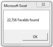 Excel 2010 FaceId count