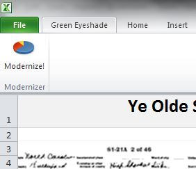 Green Eyeshade tab