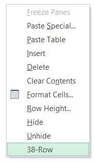 show menu name