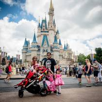 Happy kids at magic kingdom