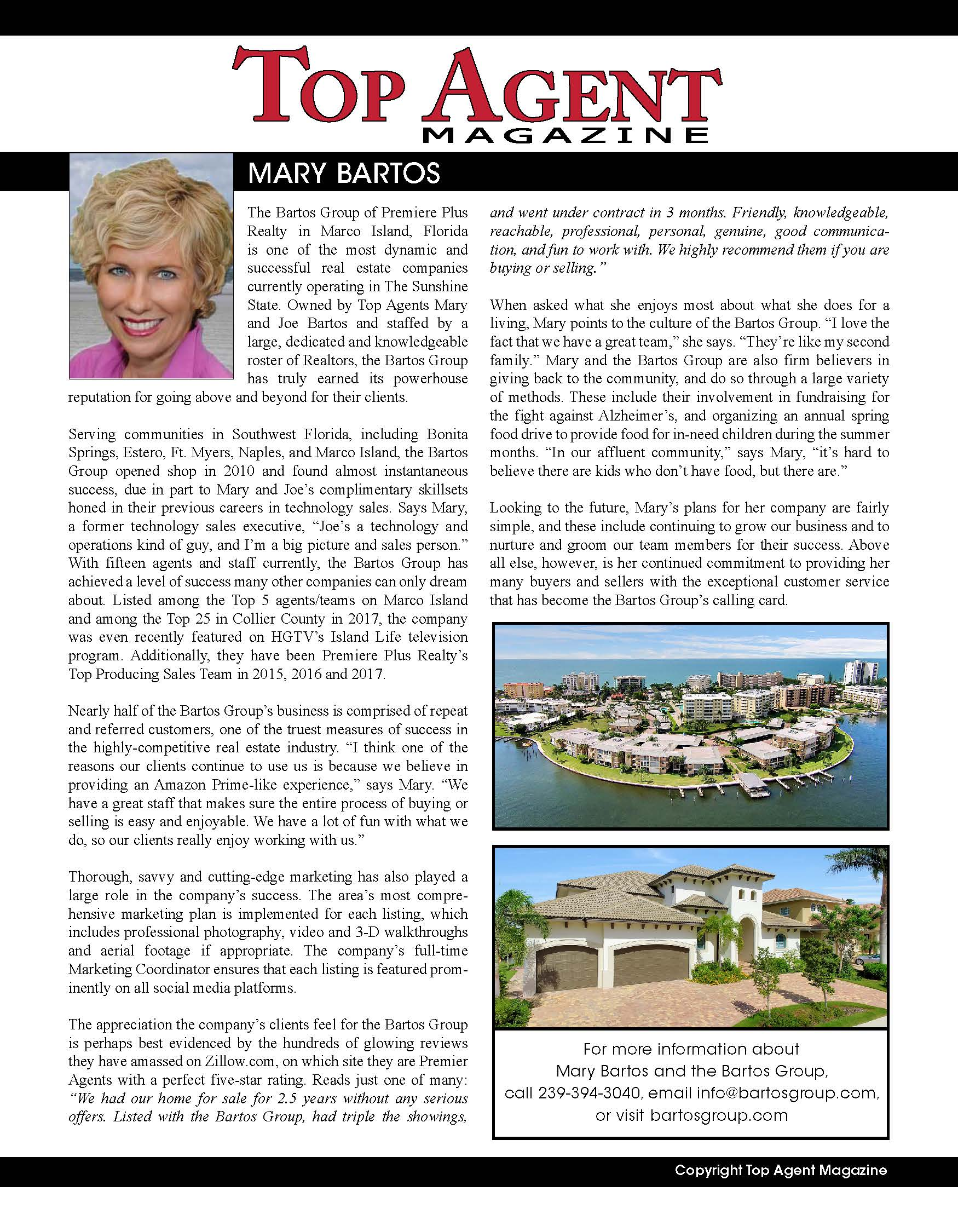 Top Agent Mary Bartos