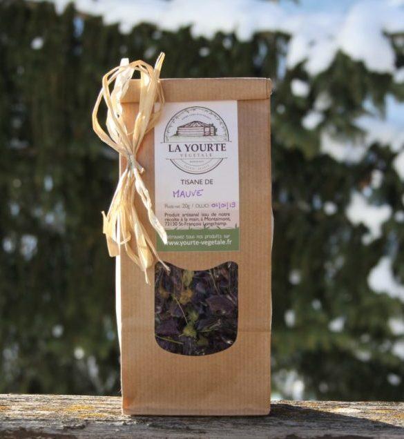 Tisane de Mauve bio yourte végétale montaimont saint françois longchamp savoie ferme agriculture
