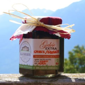 gelée de cassis groseille de la yourte permaculture nature ferme bio yourte végétale saint françois longchamp savoie