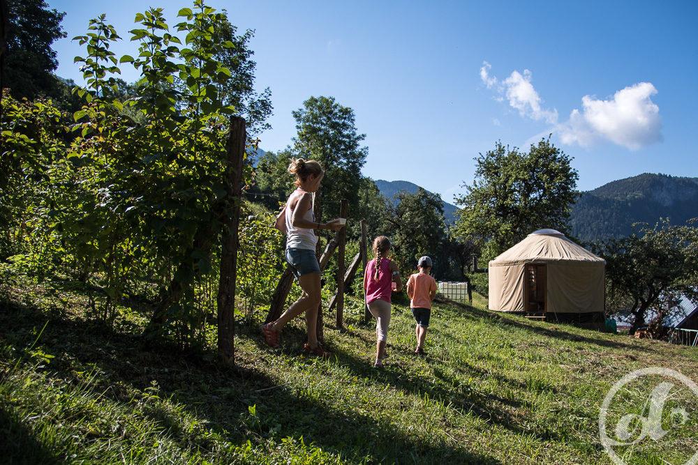 la yourte végétale montaimont Saint françois longchamp Maurienne Savoie
