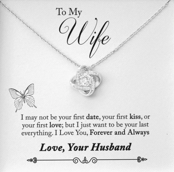 Love Knot Necklace with Endearment Card