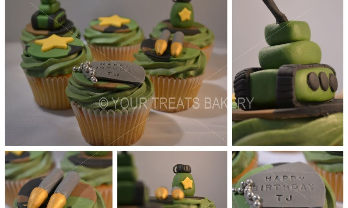 Barmy Army Cupcakes