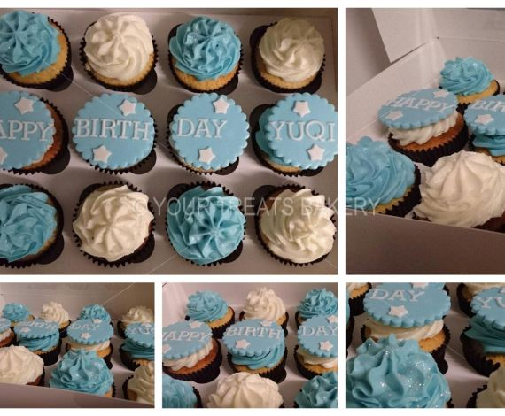 Blue & Whity Cuppies Cupcake