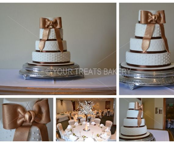 Bronze Bow Beauty Cake