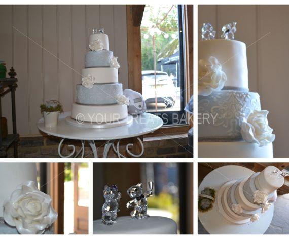 Frosty Patterned Glamour Cake