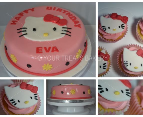Hello Kitty Face Cake