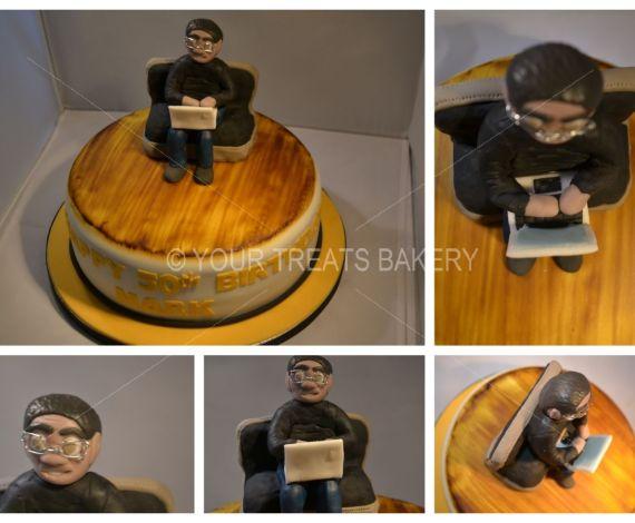 Laptop Guy Cake