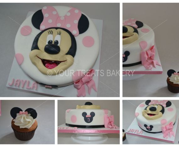 Minnie Mouse 3D Face Cake