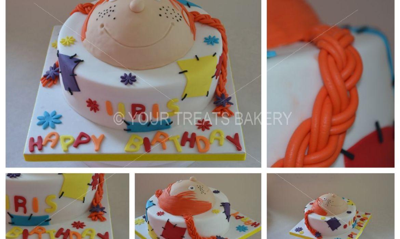 Pippi Longstocking Head Cake