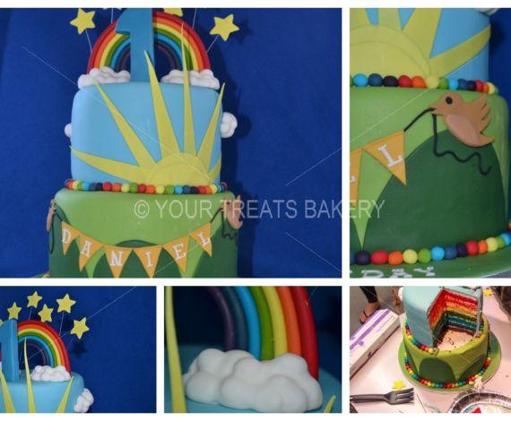 Rainbows & Bunting Cake