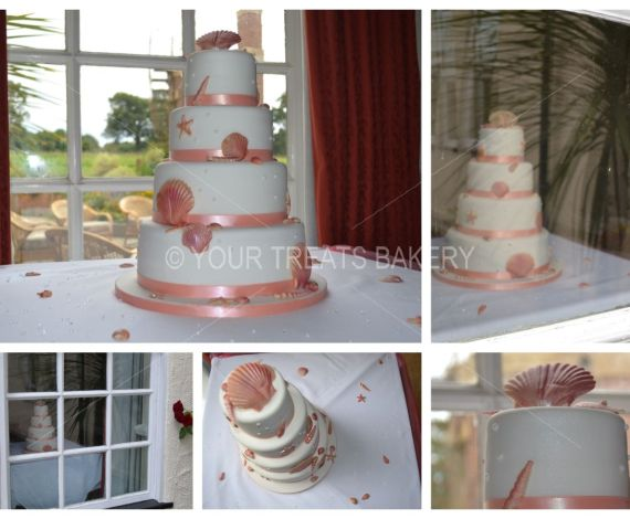 Seashells & Clams Wedding Cake