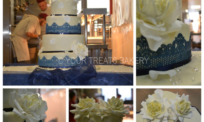 Six Nine One Four Wedding Cake