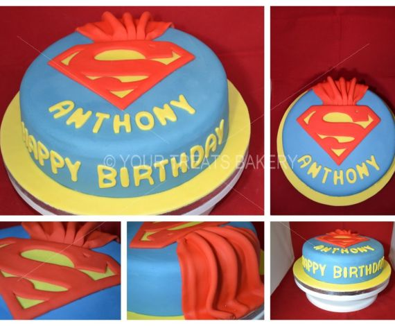 Superman Cape Cake