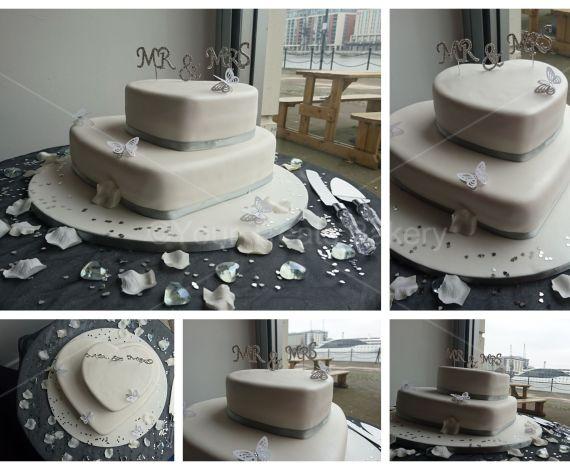 Big Hearts Wedding Cake