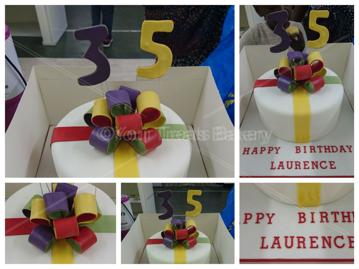 Bow Explosion Simple Cake